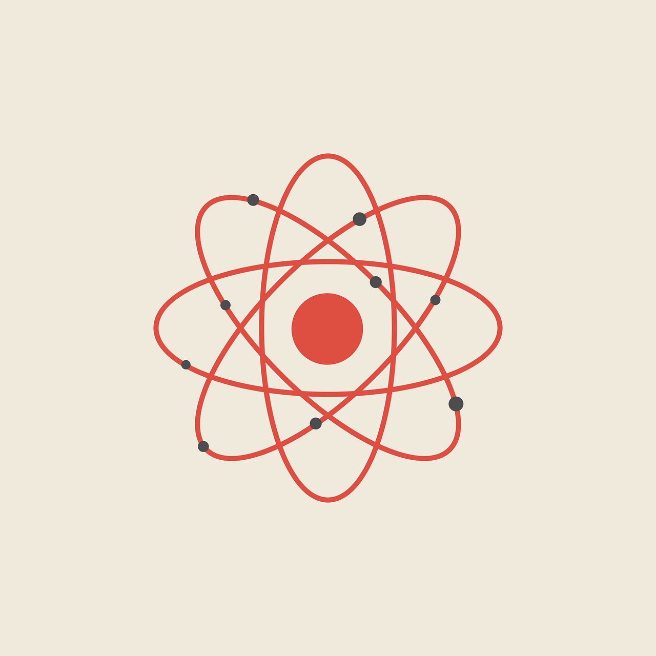 Illustration représentant un atome, figurant ici la gravitation des pôles de compétitivité autour d'un territoire
