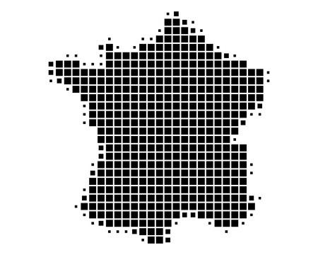 Illustration représentant la carte de la France