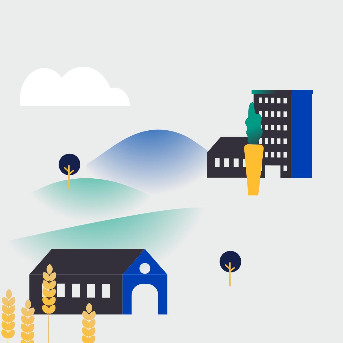 Illustration de fermes urbaines