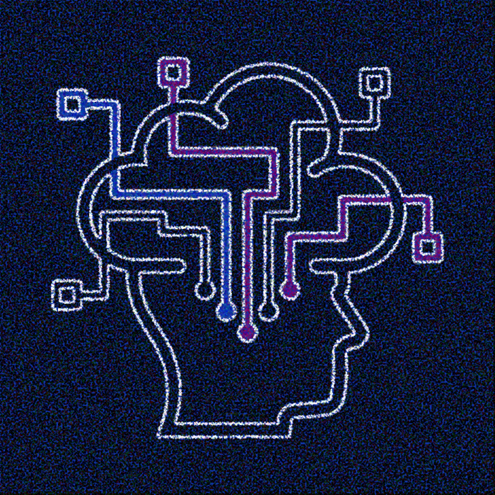Illustration mettant l'accent sur les connections qui se font dans le cerveau d'un individu