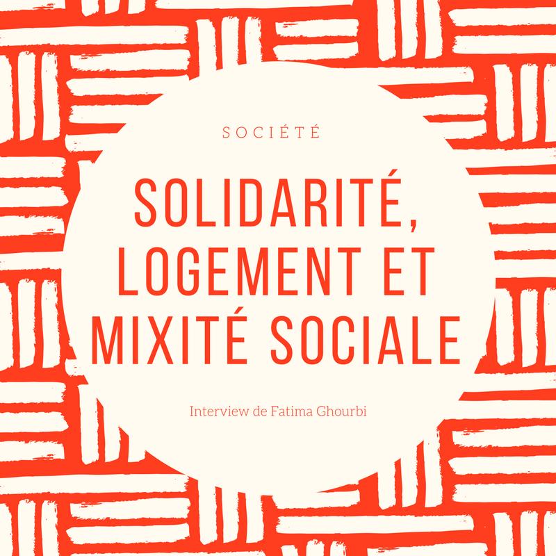 """Ecriture du titre de l'interview """"Solidarité, logement et mixité sociale"""""""