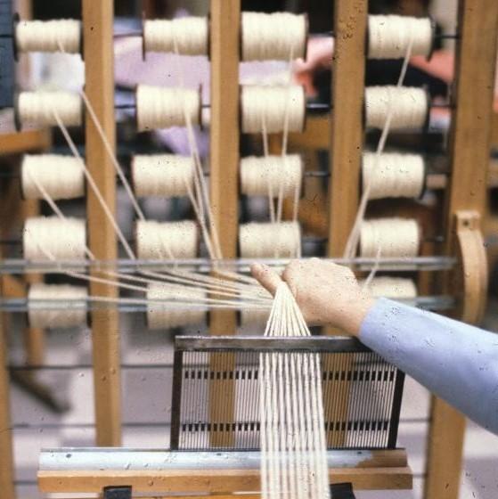Photographie d'un métier à tisser la soie