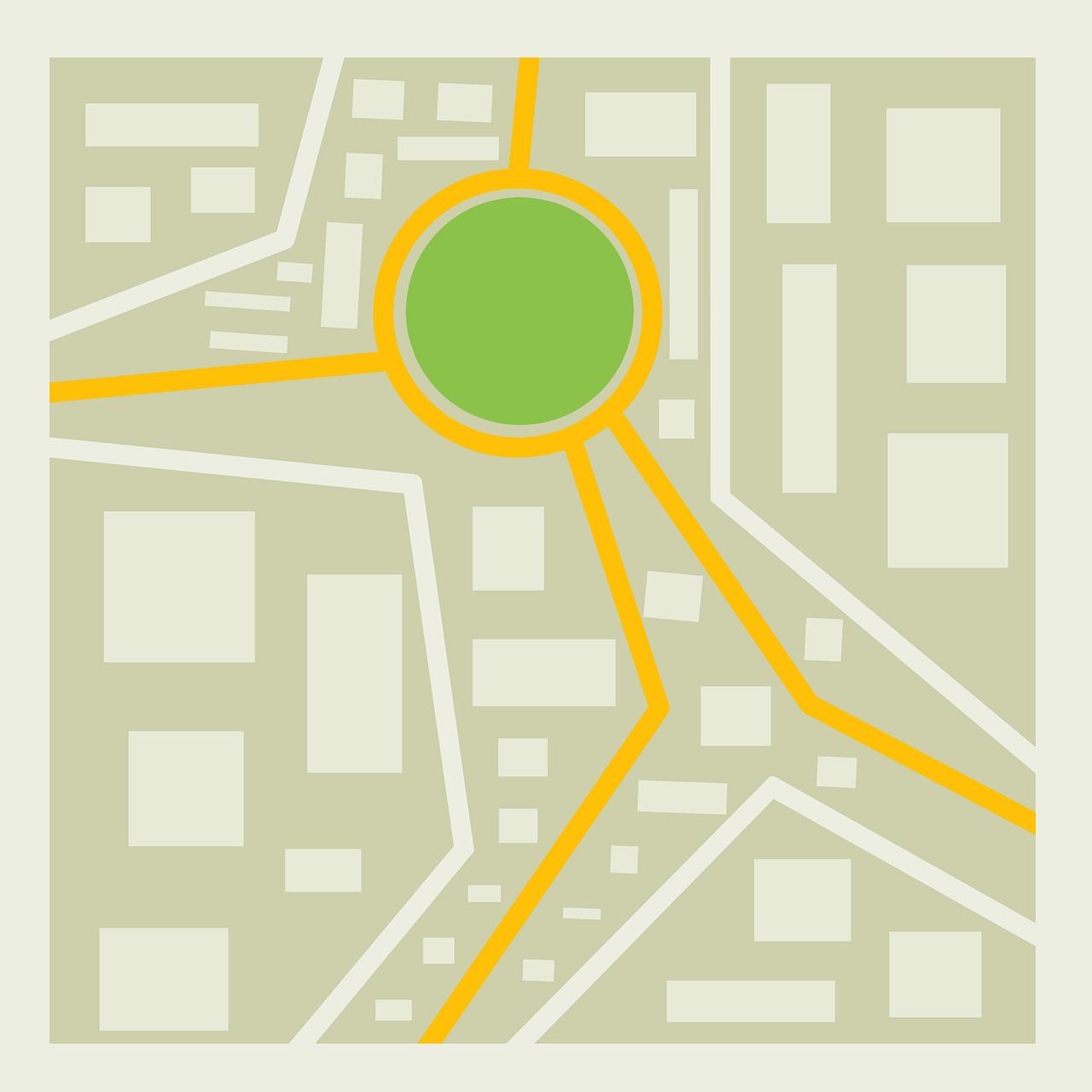 Illustration représentant le plan d'une ville