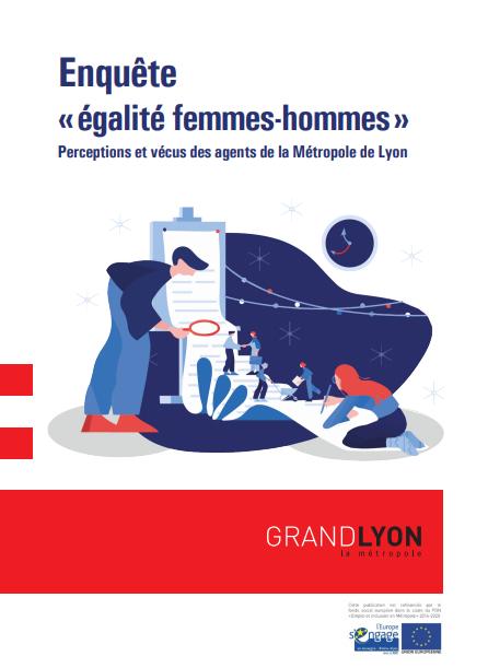 """Couverture de l'étude """"Enquête « égalité femmes-hommes »"""""""