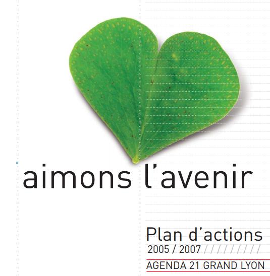 """Couverture de la deuxième partie du plan d'action 2005/2007 : """"aimons l'avenir"""""""