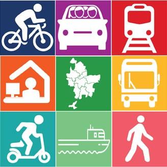 vélo/covoiturage/tram/télétravail/territoire/bus/troyinette/péniche/marche