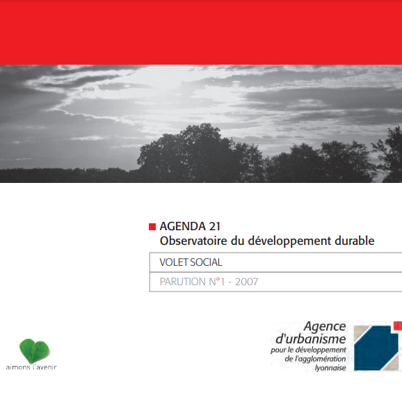 Vue de la couverture de la parution n°1 du volet social de l'agenda 21
