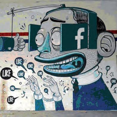 Tag représentant un individu avec des oeilleres Facebook