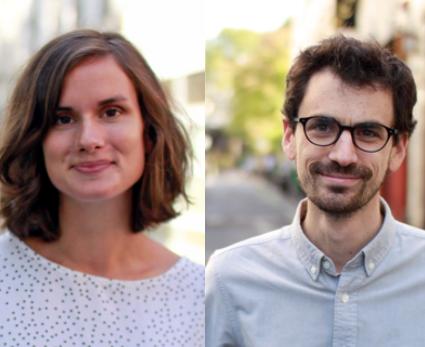 Portraits de Manon Loisel et Nicolas Rio