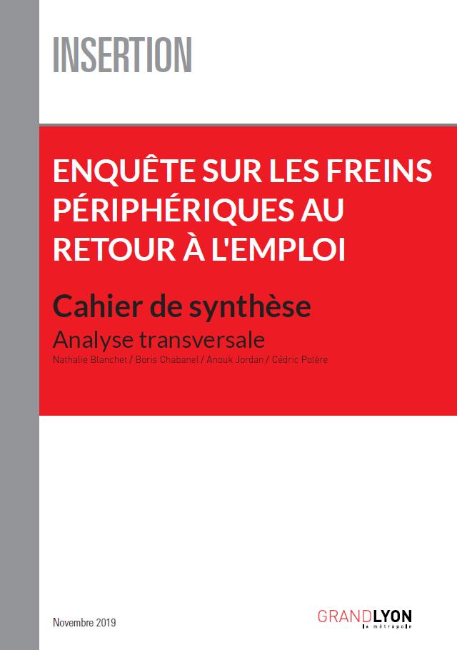 Couverture du cahier de synthèses sur les freins à l'emploi