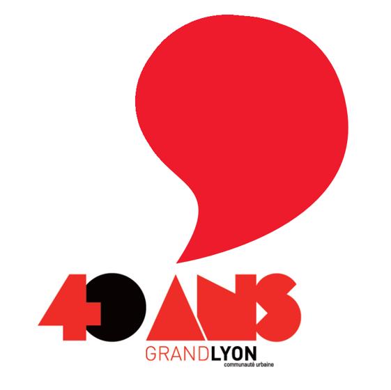 Logo des 40 ans du Grand Lyon