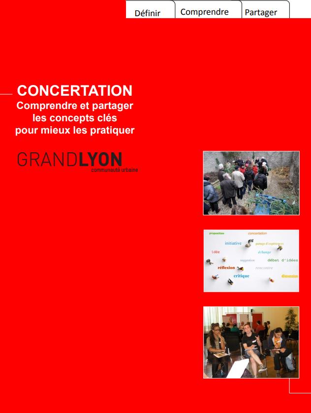 """Couverture de l'étude """"Concertation : comprendre et partager les concepts clés pour mieux pratiquer"""""""