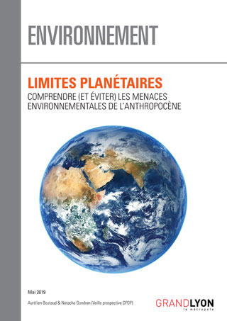 """Couverture de l'étude """"Limites planétaires"""""""