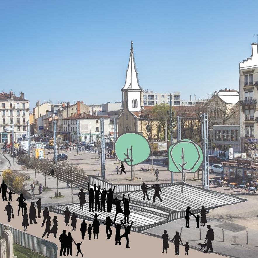 Projet d'aménagement de la place Grandclément à Villeurbanne