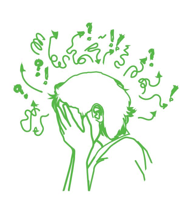 Illustration d'une personne perdue dans ses pensées