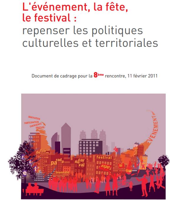 """Extrait de la première page de l'étude """"L'événement, la fête, le festival : repenser les politiques culturelles et territoriales"""""""