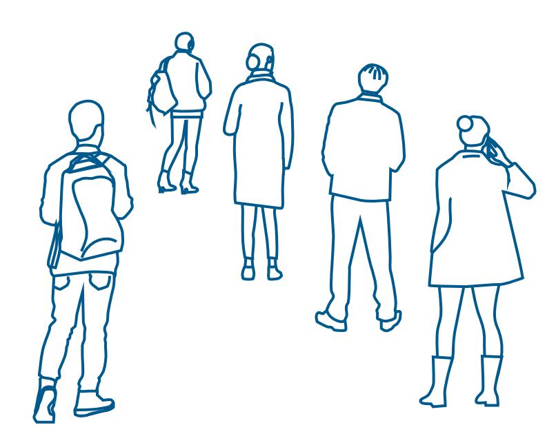 Illustration de personnes de dos
