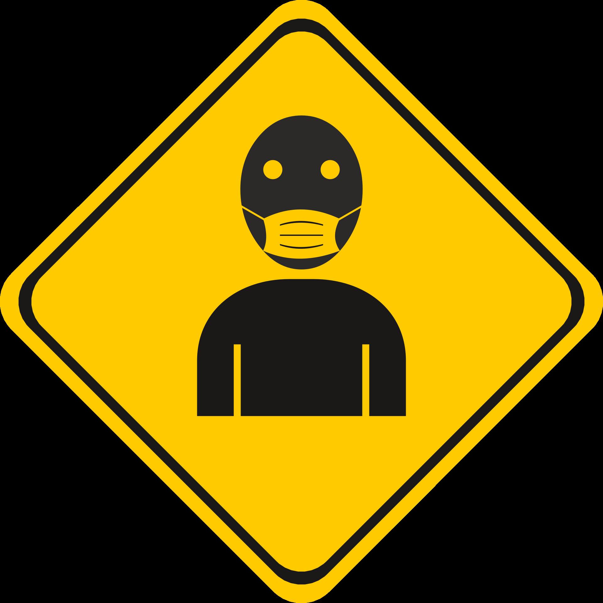 Illustration représentant un bonhomme portant un masque