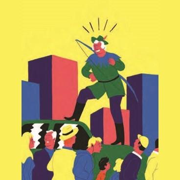 Illustration représentant un robin des bois urbain