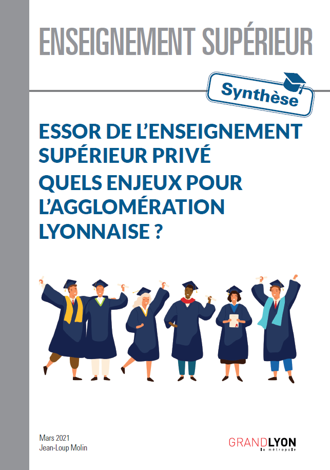 Couverture du document Synthèse de l'essor de l'enseignement supérieur privé