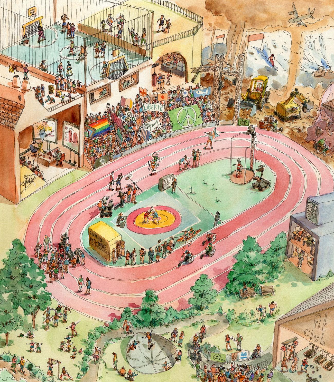Illustration représentant un stade