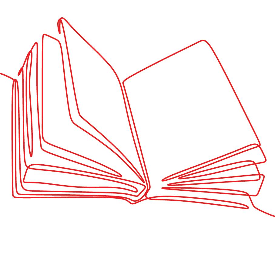 Illustration représentant un livre ouvert
