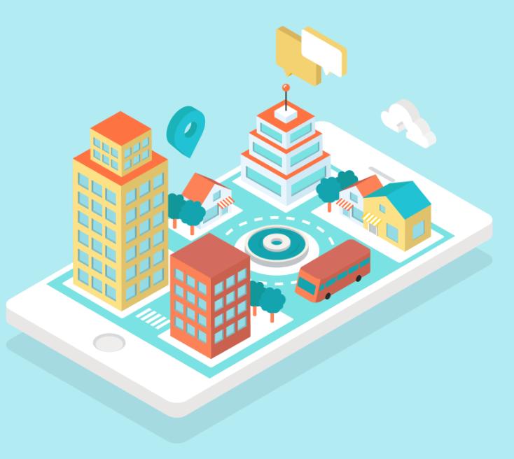 """Illustration d'une """"smart city"""""""