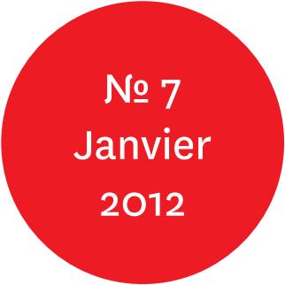 """Vue de l'écriteau """"N°7 Janvier 2012"""""""