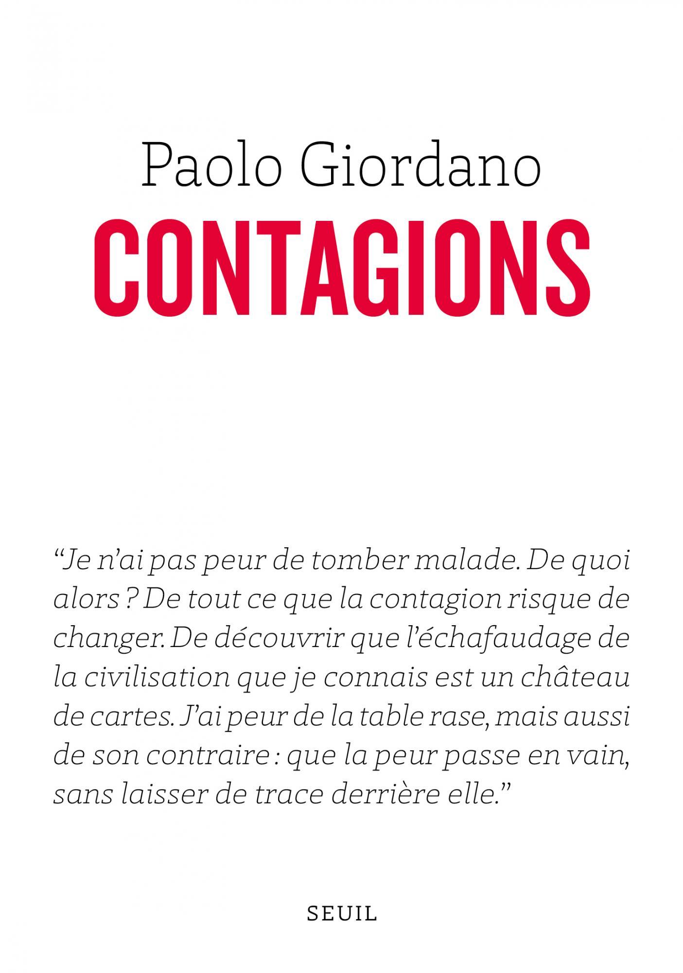 Couverture de Contagion de Paolo Giordano