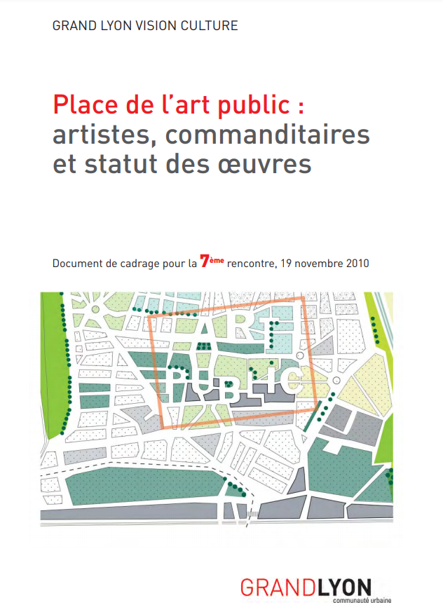 """Couverture de l'étude """"Place de l'art public : artistes, commanditaires et statut des œuvres"""""""
