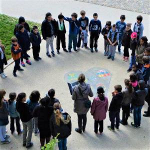 photo prise dans un collège lors d'un enseignement