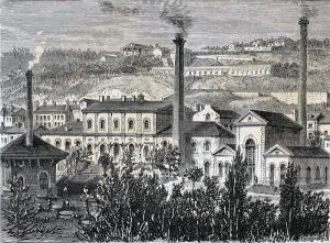 Illustration de l'usine hydraulique de Lyon