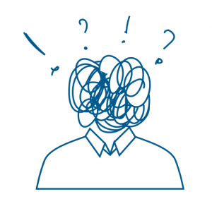 Illustration d'une personne perdue et stressée