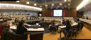 Isabelle Baraud-Serfaty à la journée sur la Ville servicielle à Lyon (salle du conseil)