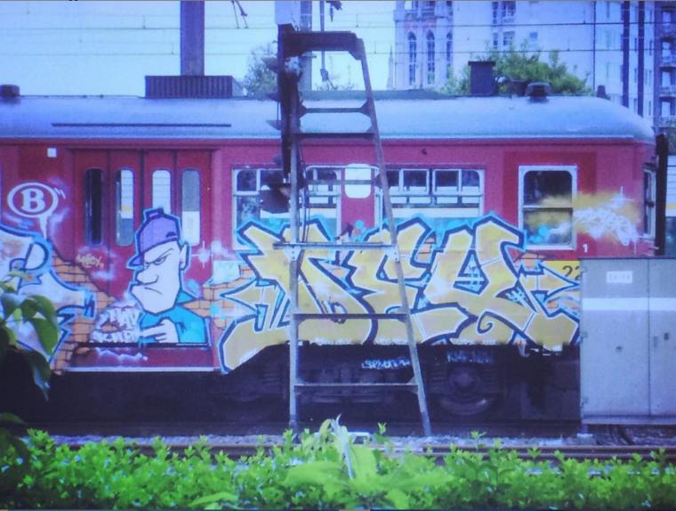 Index, peinture du train (Belique)