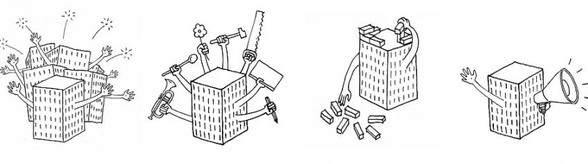 Illustrations d'immeubles réalisant plusieurs projets