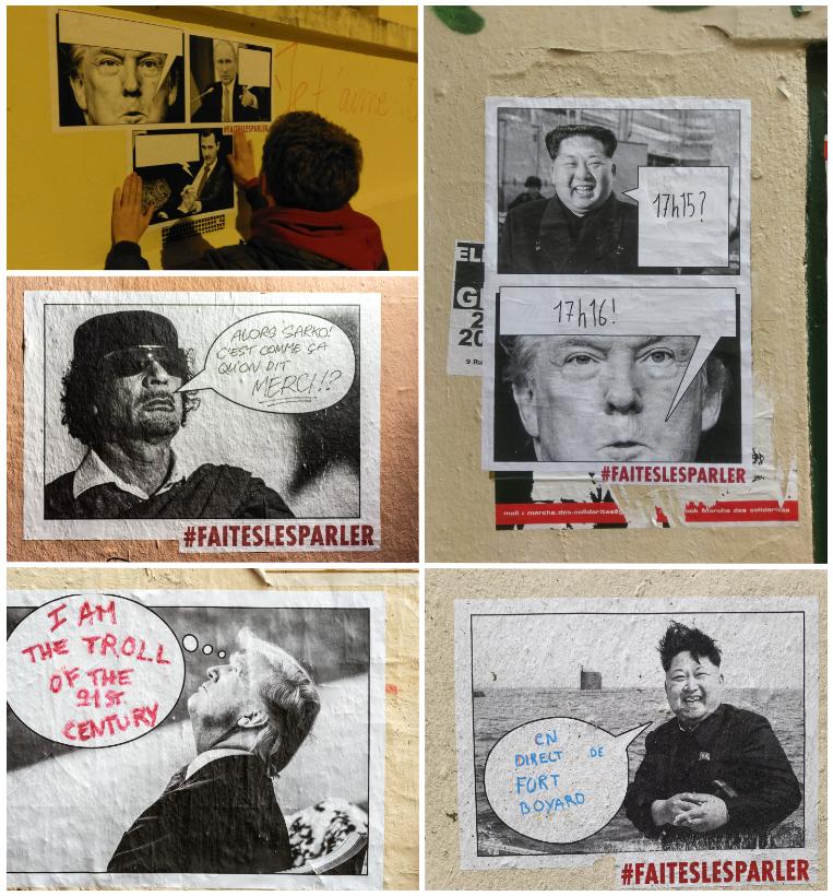 Collages, Lyon 1er, 2018