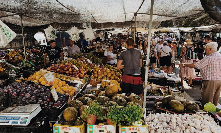 Photographie d'un marché