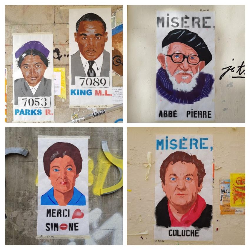 Jalb, pochoir, Lyon 1er, 2019 et 2020