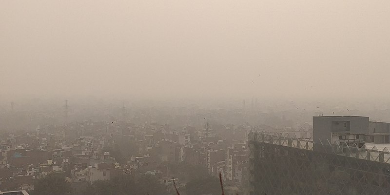 Pollution à Dehli en Inde, en 2019