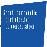 """Extrait de la couverture de l'ouvrage """"Sport, démocratie participative et concertation. Les évolutions des politiques sportives"""""""