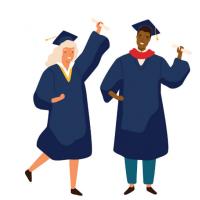 Illustration représentant 2 étudiants