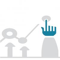 Illustration représentant une main cliquant sur un bouton.