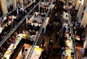 marché des soies à Lyon vu du haut