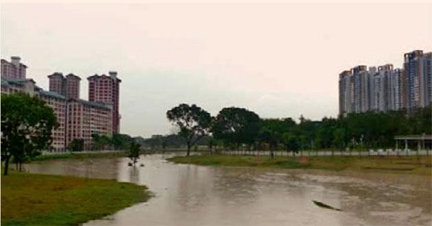Eaux de pluie dans la ville